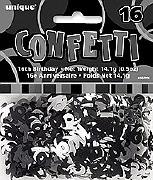 16th Black Confetti