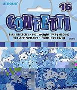 16th Blue Confetti