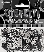 18th Black Confetti