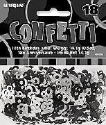 18th Black Confetti