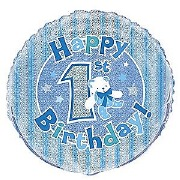 1st Birthday Foil Balloon