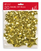 20 Pack Of Gold Bows