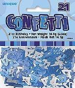 21th Blue Confetti