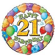 21st Birthday Balloon