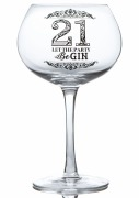 21st Gin Glass