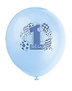 First Birthday Blue Balloons