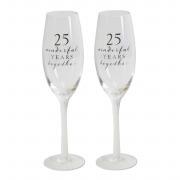 25th Flute Glasses