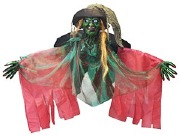 275cm Green Witch Decoration