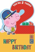 2 Today Boy Peppa Pig Card