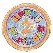 2nd Birthday Foil Balloon