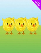 3 Pack Of Fluffy Chicks