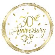 30th Anniversary Foil Balloon