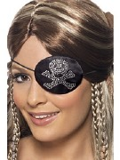 Silver Diamonte Eyepatch