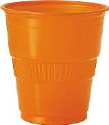 Pumpkin Orange Plastic Cups