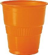 Pumpkin Orange Plastic Cups