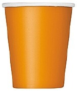 Pumpkin Orange Paper Cups