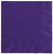 Deep Purple Paper Napkins