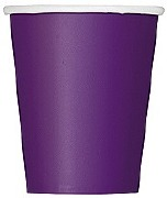 Deep Purple Paper Cups