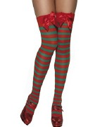 Red and Green Elf Stockings