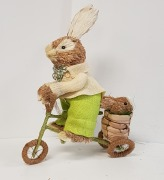 34cm Mr & Mrs Cycle Bunny