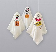 3 Hanging Ghost Decorations