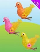 3 Pack Of Glitter Birds