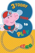 3 Today Boy Peppa Pig Card