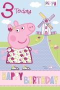 3 Today Peppa Pig Card