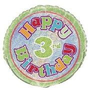 3rd Birthday Foil Balloon