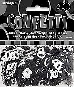 40th Black Confetti