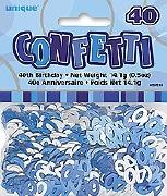 40th Blue Confetti