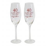 40th Flute Glasses