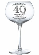40th Gin Glass
