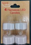 4Pk LED Tealights