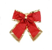 45cm Red & Gold Bow
