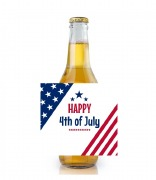 6PK 4th of July Beer Labels