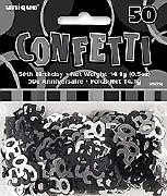 50th Black Confetti