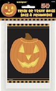 50Pk Of Pumpkin Treat Bags
