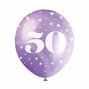 50th Birthday Helium Balloons