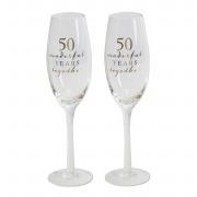50th Flute Glasses