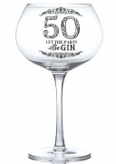 50th Gin Glass