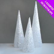 3 Pack Of Glitter Cones