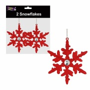 Red Snowflakes Decorations