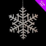 Glitter Snowflake Decoration