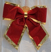 57cm Red & Gold Bow
