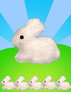 5 Pack Of Fluffy Bunnies