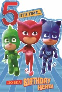 5 Today PJ Masks Card
