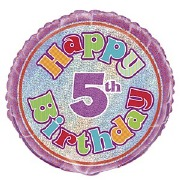 5th Birthday Foil Balloon