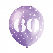 60th Birthday Helium Balloons