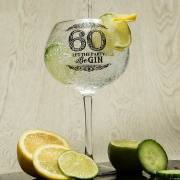 60th Gin Glass